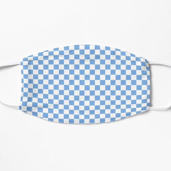 Carolina Blue checkerboard  Flat Mask