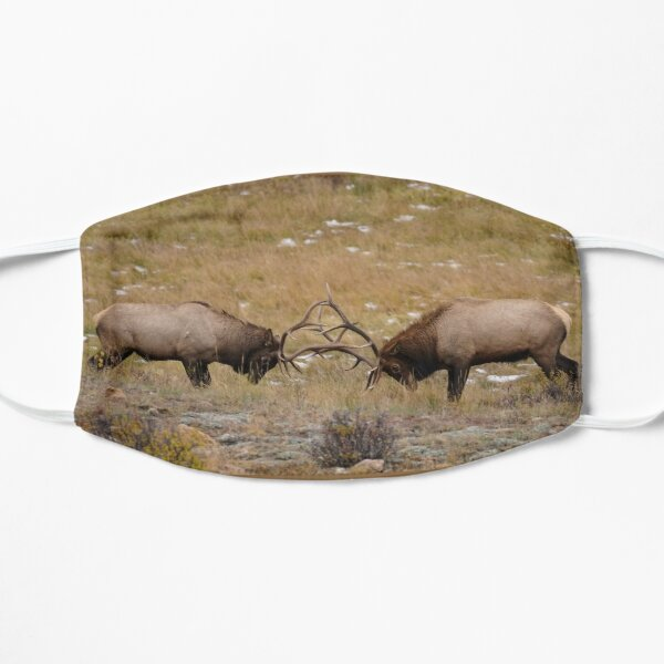 Battle of Two Bull Elks Flat Mask