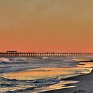 Misty Sunset Pier by Kathy Baccari