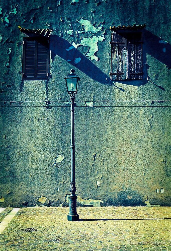Street lamp and two windows by Roberto Pagani