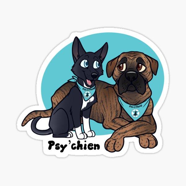 Duo de Psy'chien Sticker