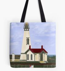 Yaquina Head Lighthouse on Oregon Pacific Coast Tote Bag