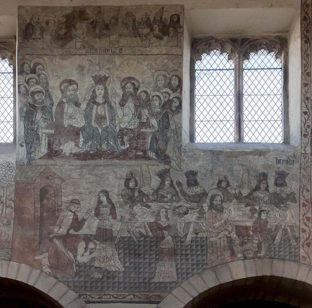 Pickering church, Yorkshire,UK ( Wall painting 2) by jasminewang