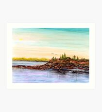 Rocky Shoals of Penobscot Bay Art Print