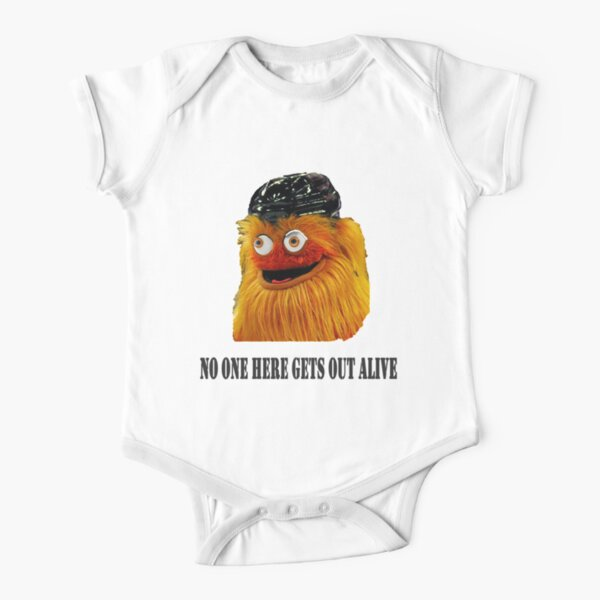 Philadelphia's Gritty Mascot  Short Sleeve Baby One-Piece