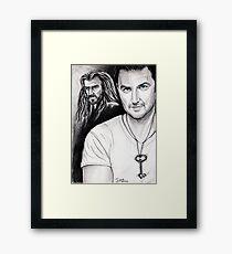 Richard Armitage staring as Thorin Oakenshield Framed Print