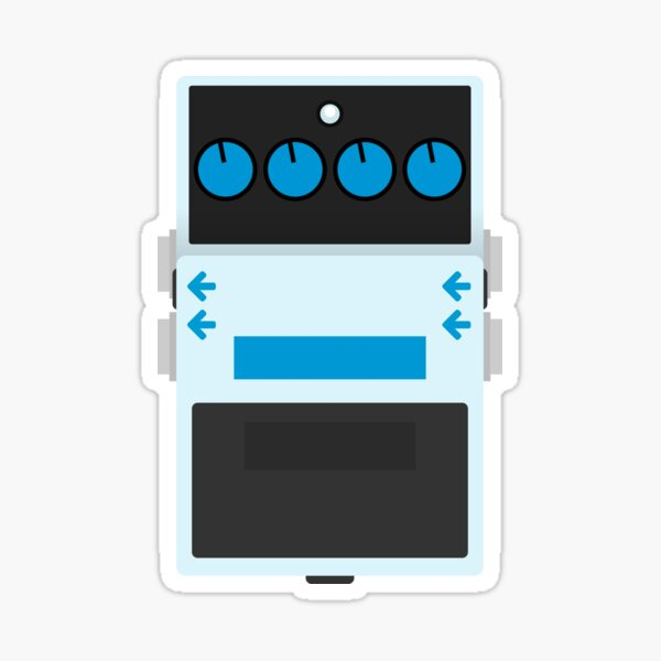 Digital Delay Pedal Sticker