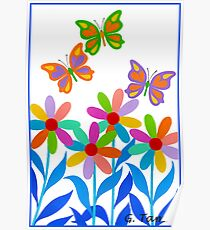 DREAMLAND FLOWERS Poster