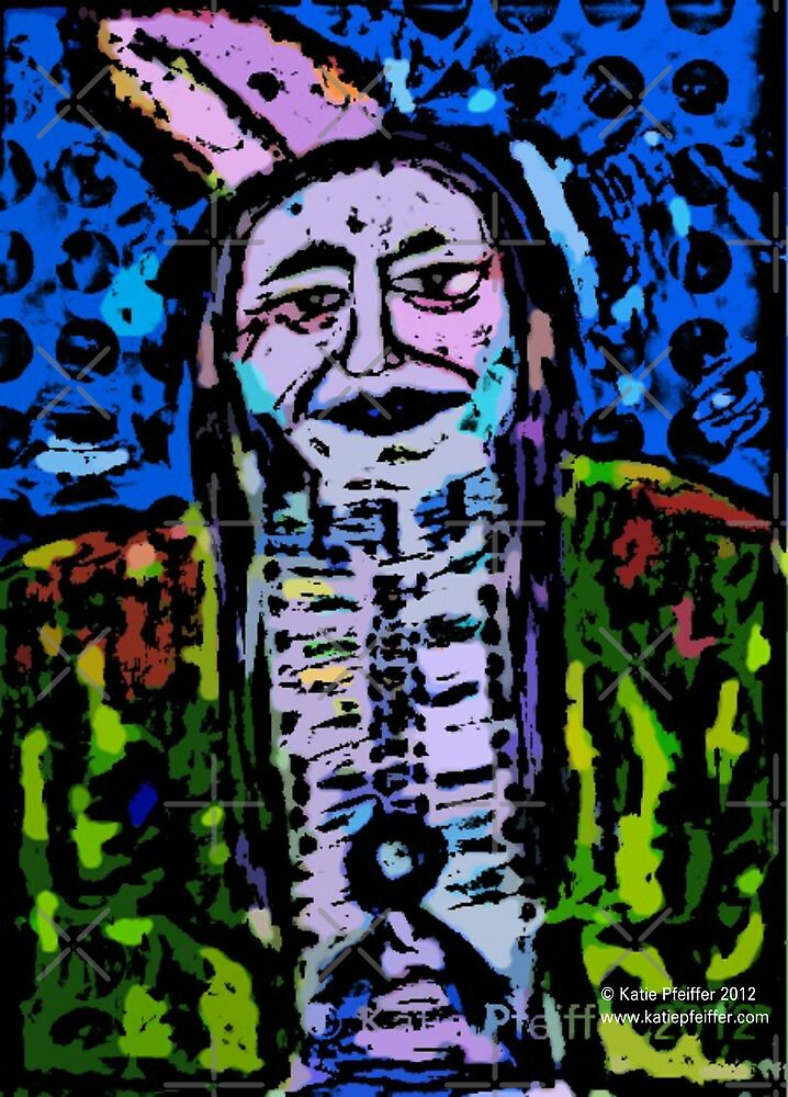 Pop Art Native American Indian  Portrait by Kater