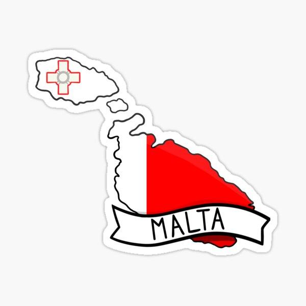 Malta Flag Map Sticker Sticker
