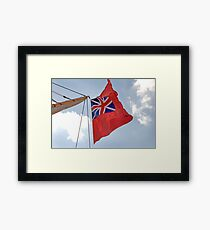 British ensign flag on ship, Brest 2008 Maritime Festival, Brittany, France Framed Print