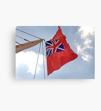 British ensign flag on ship, Brest 2008 Maritime Festival, Brittany, France Canvas Print