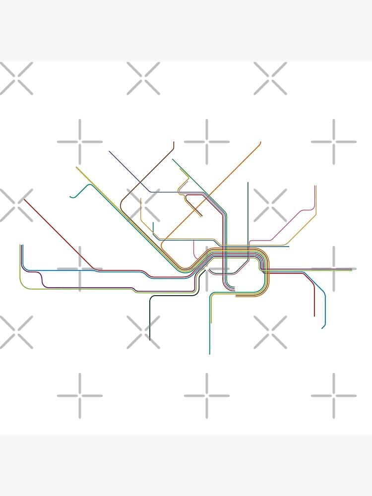 Frankfurt Rail Map by in-transit