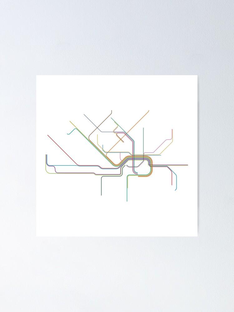 Alternate view of Frankfurt Rail Map Poster