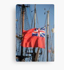 British ensign flag on ship, Brest 2008 Maritime Festival, Brittany, France Metal Print