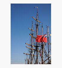 British ensign flag on ship, Brest 2008 Maritime Festival, Brittany, France Photographic Print