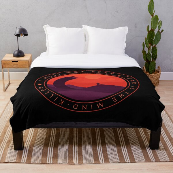 I Must Not Fear - Dune Throw Blanket