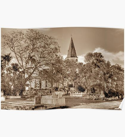 St. Matthew's Anglican Episcopal Church and Eastern Cemetery in Nassau, The Bahamas Poster