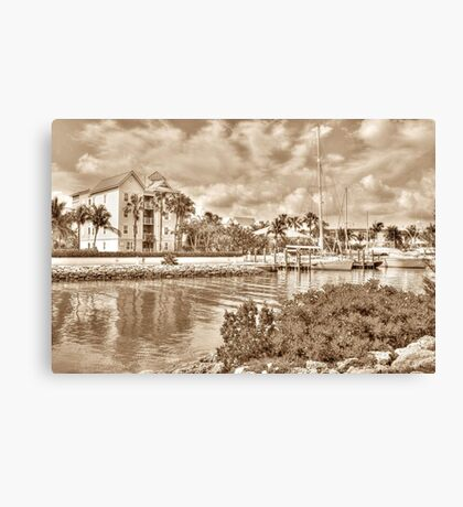 Entrance Canal to Harbour Village on Paradise Island - Nassau, The Bahamas Canvas Print