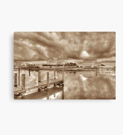 Stormy day at Sandyport Marina Village in Nassau, The Bahamas Canvas Print