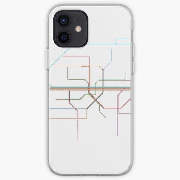 Munich Rail Map iPhone Soft Case