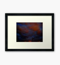 ©HCS Blue and Red Storm Clouds I Framed Print
