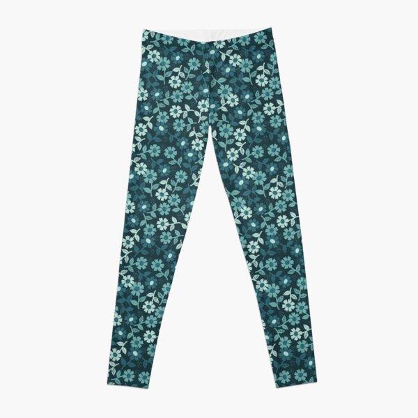 Denim Floral Leggings
