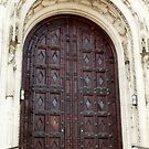 Rosary Cathedral doorway by jrier