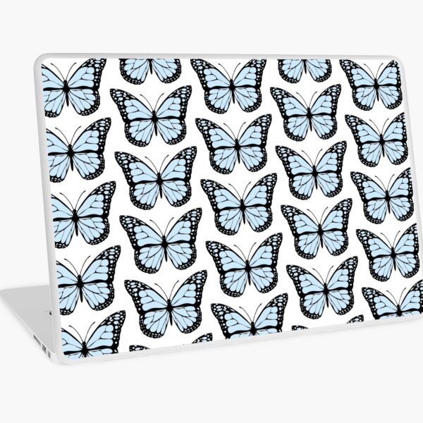 papillon bleu clair Skin adhésive d'ordinateur