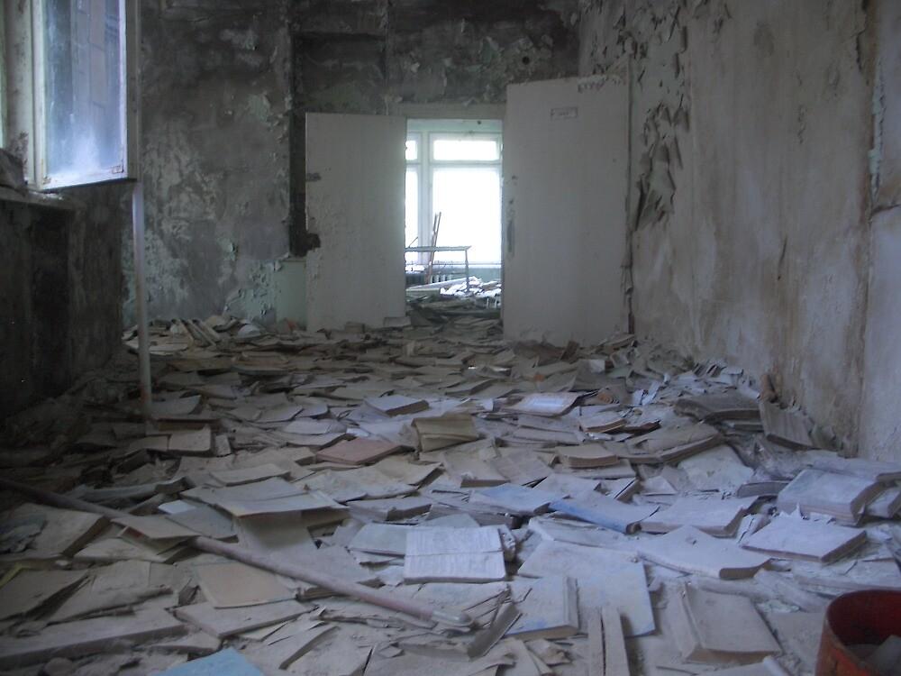 Books, Pripyat secondary school by Giles Thomas