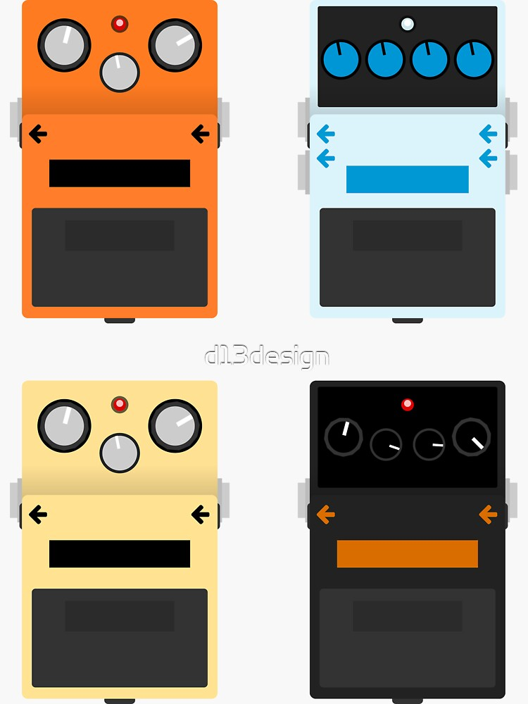 Guitar Pedals - Set #1 by d13design