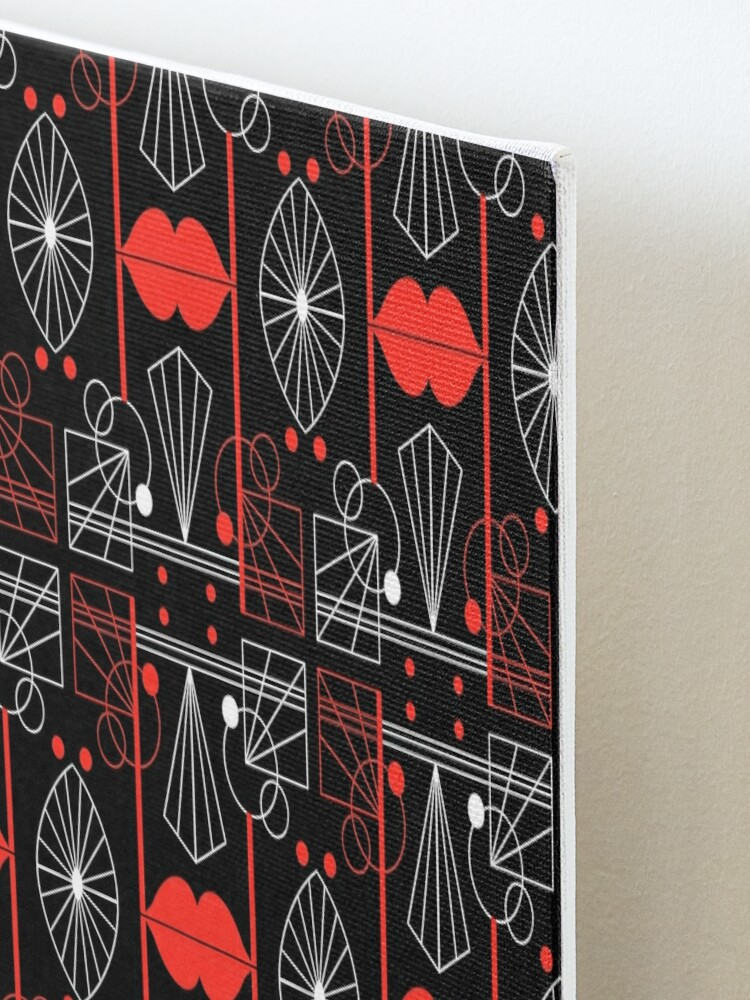 Alternate view of Graphic Art Deco Lips Mounted Print