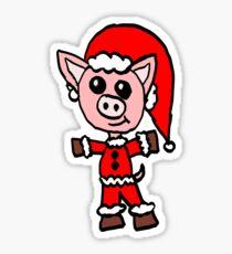 Santa Pig  Sticker