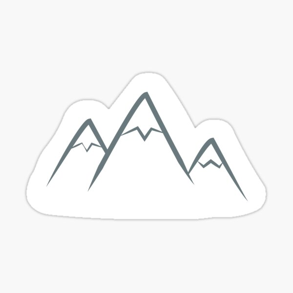 Snow-covered mountains Sticker