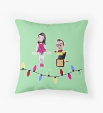 Stop Motion Christmas - Jeff/Annie (Style B) Throw Pillow