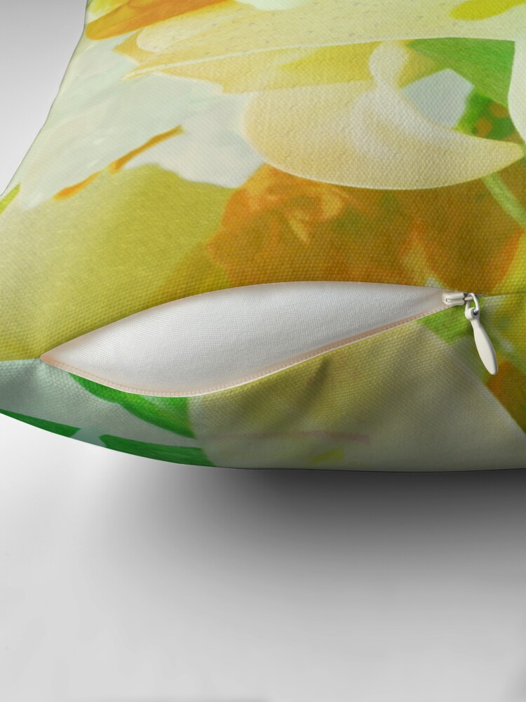 Alternate view of Texturized Flowers Throw Pillow