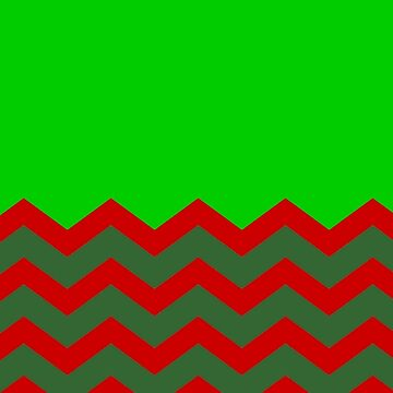 CHEVRON CHRISTMAS HALF PATTERN WITH GREEN | RED | OLIVE GREEN by ozcushionstoo