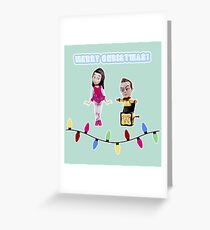Stop Motion Christmas - Jeff/Annie (Style C) Greeting Card