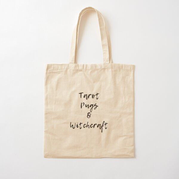 Tarot Pugs and Witchcraft Cotton Tote Bag