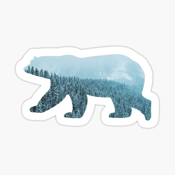 Polar bear snow forest winter Sticker