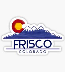 Frisco Colorado wood mountains Sticker