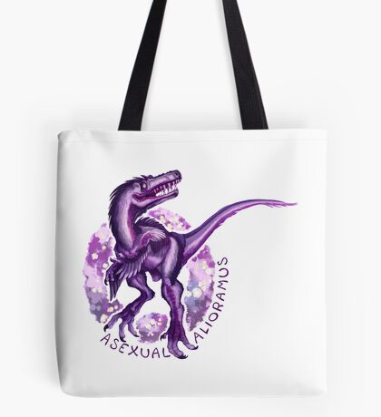 Asexual Alioramus (with text)  Tote Bag