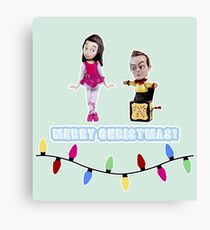 Stop Motion Christmas - Jeff/Annie (Style E) Canvas Print