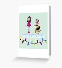 Stop Motion Christmas - Jeff/Annie (Style E) Greeting Card