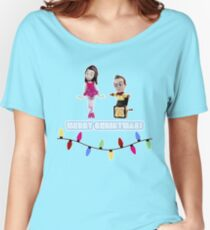 Stop Motion Christmas - Jeff/Annie (Style E) Women's Relaxed Fit T-Shirt