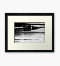 Barque en lignes Framed Print
