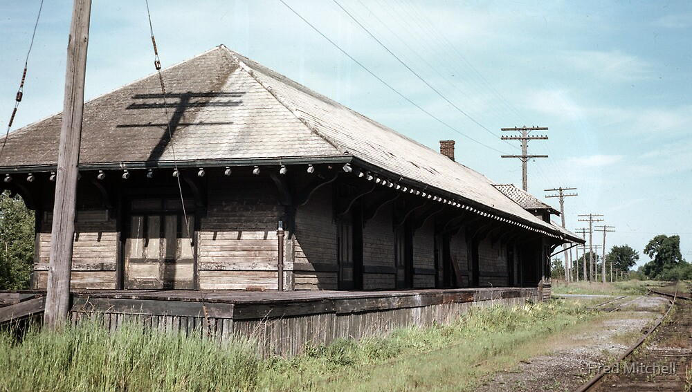 Abandoned NYC station upper NY state 19610604 0679 by Fred Mitchell
