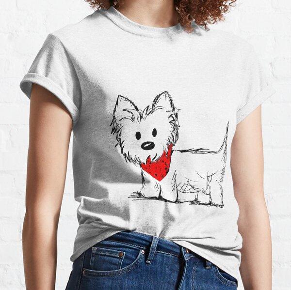 Cute Westie Dog Classic T-Shirt
