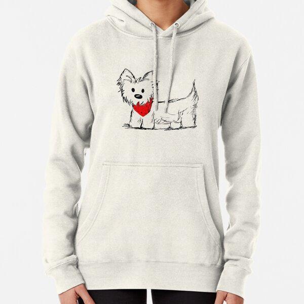 Cute Westie Dog Pullover Hoodie