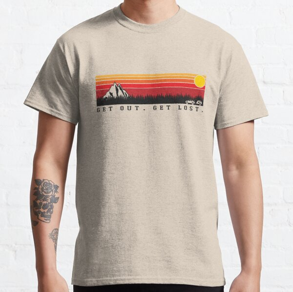 Toyota 4runner 5th Gen and Trailer (Get out. Get Lost. Retro)  Classic T-Shirt